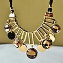 MIKI Statement Round Gemstone Necklace