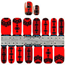 YeManNvYou2x14PCS Chinese Style Red Lanterns Nail Art Stickers S1148