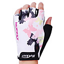NUCKILY Polyester and Spandex Mountain Bike Outdoor Sports Half Finger Gloves N3558