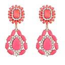 Womens Gorgeous Beaded Flowers Drop Stud Earrings (More Colors) (1 Pair)