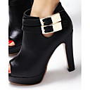 Womens Chunky Heel Peep Toe Ankle Fashion Boots Shoes(More Colors)
