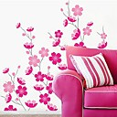 Createforlife Cartoon Pink Flowers Blossoms Kids Nursery Room Wall Sticker Wall Art Decals