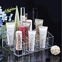Acrílico 4x6 Transparente Cuadrado Cosméticos Almacenamiento soporte de cepillo del maquillaje de la célula del organizador cosmético