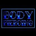 Body Piercing Ladrillo Verde Azul Rojo Blanco Naranja Púrpura Amarillo Publicidad Luz LED Entrar