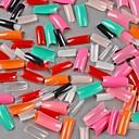 500 PC en 1 set mujeres dama medio artificial falsas pegatinas artes de uñas Consejos