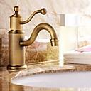 Antique Inspired Bathroom Sink Faucet - Antique Brass Finish