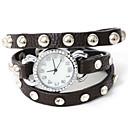 atrevería reloj del cuarzo remache shell pulsera de moda u