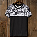 Mens Round Casual Short Sleeve Color Printing T-Shirts