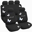 9 PC fijaron asiento de coche sistema de la cubierta de la mariposa material de diseño de poliéster accesorios de auto ajuste universal