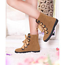 Womens Flat Heel Round Toe Ankle Boots((More Colors)