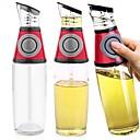 Cocinar 500ml saludable aceite vinagre prensa medida botella de cristal de la cocina dispensador (color al azar)