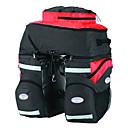 mountainpeak 68L maletas de nylon 600d negro y rojo 3-en-1 para el ciclismo