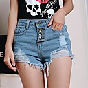 Womens Four Sizes High Waist Denim Shorts