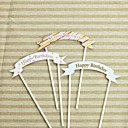 Tarjeta del feliz cumpleaños de la torta de cumpleaños (más colores) (tamaño pequeño de 13 cm de ancho) (el tamaño grande de 15 cm de ancho)