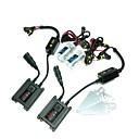 12V 35W H1 4300K HID Xenon Lamp Kit de conversión fijado con el soporte de montaje (Negro lastre delgado)