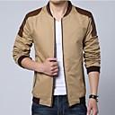 Mens Fashion Casual PU Splicing Jacket