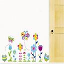 Createforlife Cartoon Flying Butterflies Garden Kids Nursery Room Wall Sticker Wall Art Decals