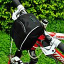 acacia 1680d bicicleta bolsa de manillar alforja negro con cubierta para la lluvia