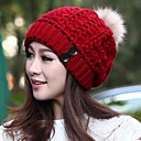 Womens Knitted Wool Warm Winter  Hat