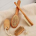 Orange Massage brush Long handle  Hog Bristle bath brush Set 4Piece(2Big2Small)Random Small Brush