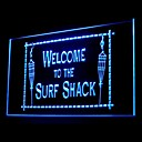 Welcome Surf Shack Advertising LED Light Sign