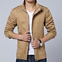 Mens Stand Collar Casual Long Sleeve Jacket