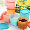 6pcs mini de plástico Cajas de Sabores (color al azar)