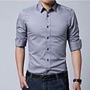 Mens Lapel Slim Casual Long Sleeve Business Shirt