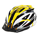 jakroo 27 respiraderos carretera de montaña, amarillo, blanco integralmente moldeado casco de ciclo (55-60cm)