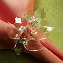 Leaf Branch Beads Flower In Multi Color Napkin Ring, Acrylic Beades, 3.5CM, Set of 12,
