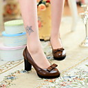Womens Chunky Heel Heels Pumps/Heels with Bowknot Shoes (More Colors)