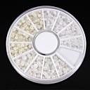 1200pcs mezcla clasifica blancoamp;uñas rueda de perla de marfil decoración del arte