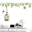 Createforlife Green Floral Vine Birdcage Kids Nursery Room Wall Sticker Wall Art Decals