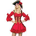 Disfraz de Halloween de Hot Pirate Mujeres Red de poliéster