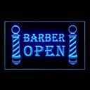 barbero publicidad abierta llevó la muestra de la luz