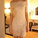 Abigail 7004 Elegante Collar hombro vestido de encaje