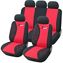 9 piezas Set Car Seat Covers Universal Fit Accesorios para automóviles