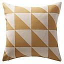"""18 """"de doble lado amarillo geométrico sábanas de algodón de impresión triangulada cubierta decorativa almohada"""