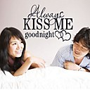Doudouwo Words and Quotes Kiss Me Wall Stickers