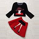 OuRuoFu Womens Europe Embroidery Uinque Shirt And Skirt