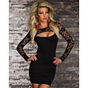 Sweet Womens Low-Cut Lace Bodycon Dress