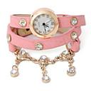 Dare U Womens PU Alloy Rhinestone Bracelet Watch
