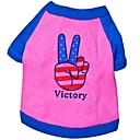 Cute Victory Style Cotton T-Shirt for Pets Dogs(Assorted Size)