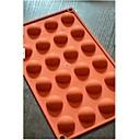24 semicírculo molde de la torta de chocolate, silicona 29,8 × 17,4 × 1,5 cm (11.7 × 6.9 × 0.6 pulgadas)