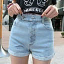Womens New Fashion Casual Waist Slimming Short Jeans