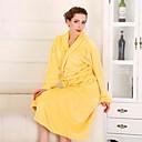 Bath Robe, High-class Woman Egg Yellow Garment Bathrobe Soft Thicken