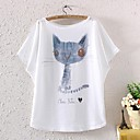 Womens Short Sleeve Batwing Animal Graphic Printed T Shirt