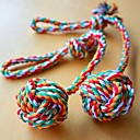 Durable Rough Rope with Knots and Ball Chewing Toy for Dogs (Multi-Color)