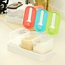 De plástico de colores con base y cucharas Especias Ralladores (color al azar)