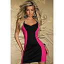 Sweet Womens Sexy Contrast Color Bodycon Dress